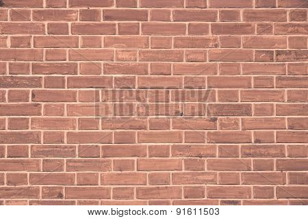 Stone Wall From A Brick Of Terracotta Color