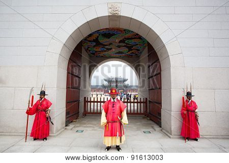 Changing of the Guard at Gyeongbokgung Palace