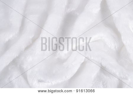 The Surface Of The White Faux Fur