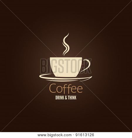 coffee cup flavor design background