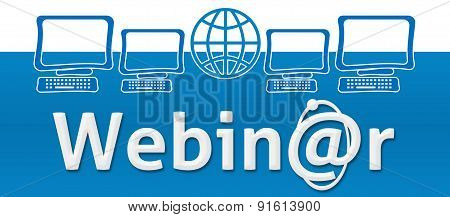 Webinar With Globe And Screens On Top