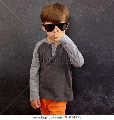 Cool Little Boy Wearing Sunglasses