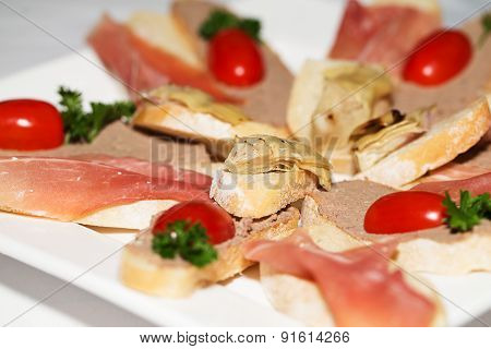 Sandwiches With Pate And Fish