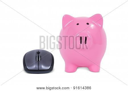 Computer Mouse With Piggy Bank