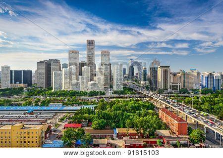 Beijing, China CBD skyline.