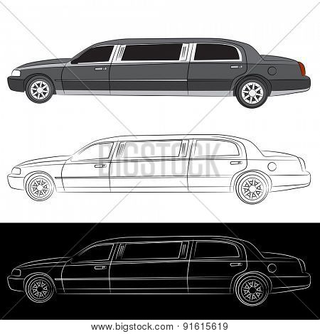 An image of a stretched limousine vehicle.