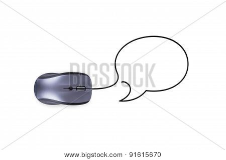 Mouse With Speech Bubble