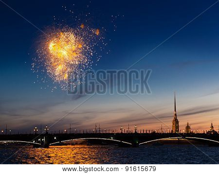 Celebration Of The Victory Day In The Second World War In Saint-petersburg, Russia On The 9Th Of May