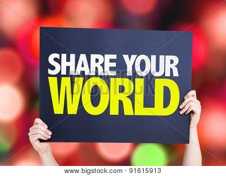Share Your World card with bokeh background