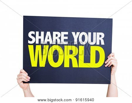 Share Your World card isolated on white