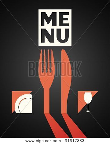 fork and knife food and drink dishes concept