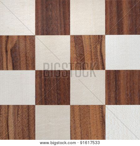 wooden chess squares
