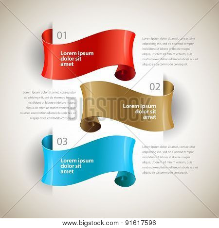 vector ribbons. Design infographics template
