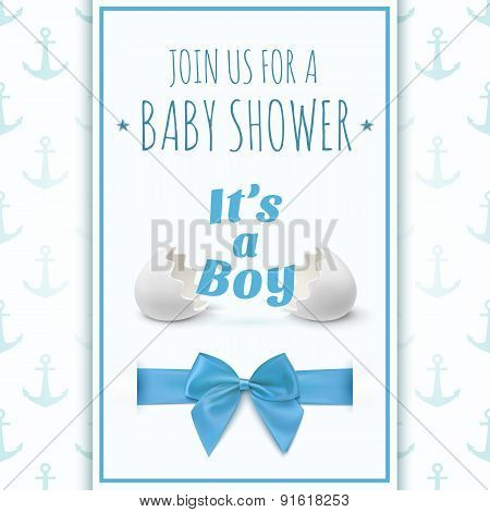 Its a boy. Template for baby shower celebration.