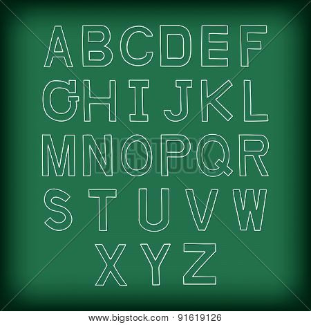 A To Z Uppercase Alphabet Handrawn Vector Illustration