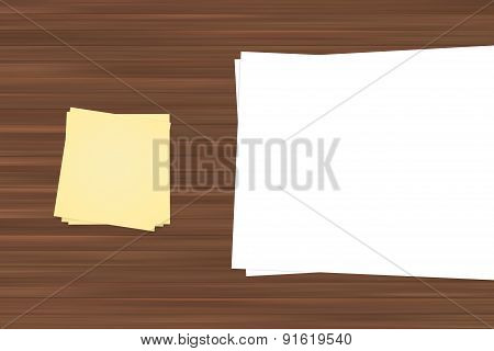 Sticky Post And White Sheet