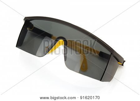 safety glasses isolated on white background