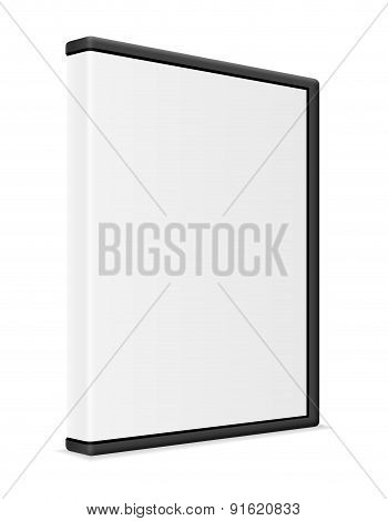 white cd and dvd bisk box packing vector illustration