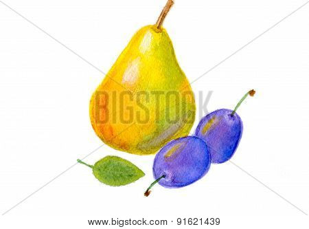pear and plums