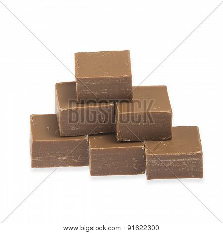 Pyramid Of Cubes Of Chocolate