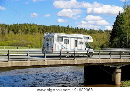 Adria Coral Motorhome On The Road