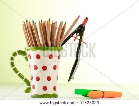 Color Pencils In A Mug