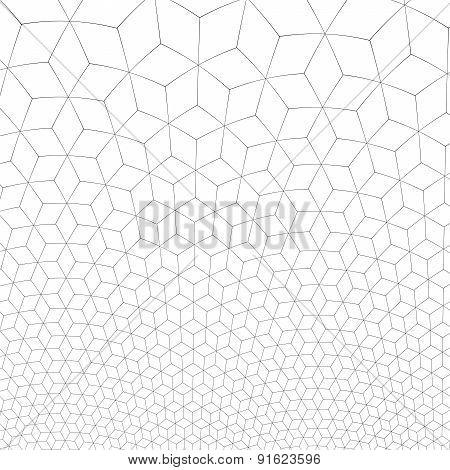 Honeycomb Fractal Gold Hex Pixel Grid Illustration