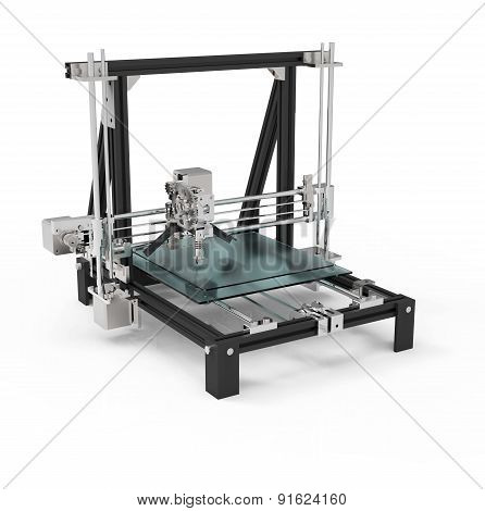 3D Printer Isolated On A White Back Ground