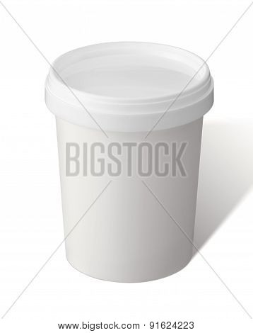 White Take-out Coffee Cup With Clipping Path