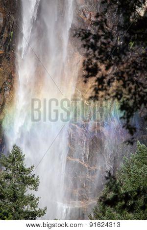 Rainbow In Yosemite