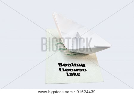 Boat License Lake