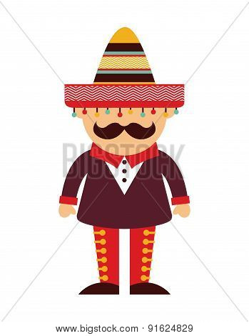 Mexico design over  background vector illustration