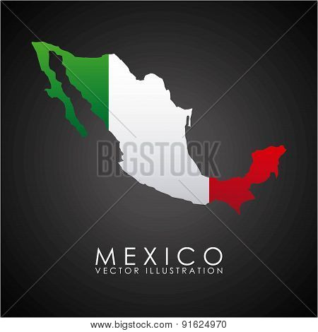 Mexico design over black background vector illustration