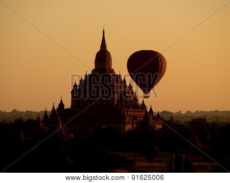 Bagan In Misty Morning