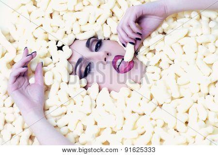 Sexual Girl In Corn Sticks Heap