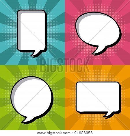 Bubbles design over colorful background vector illustration