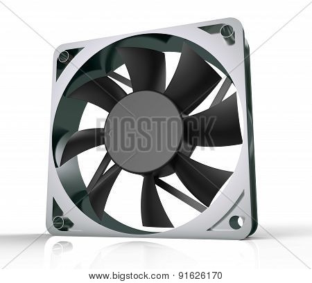 Computer Fan For Cpu Or Power Supply - Isolated On White