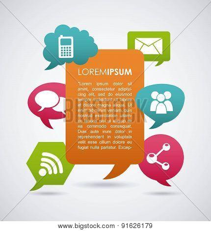 Social media design over gray background vector illustration