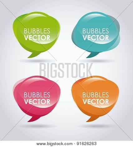 Bubbles design over gray background vector illustration