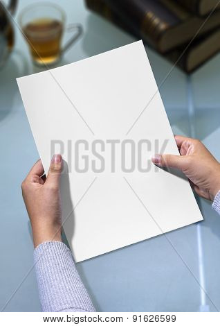 Hands Holding Letter With Clipping Path