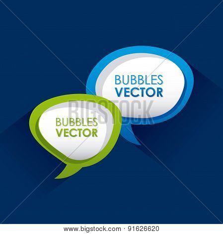 Bubbles design over blue background vector illustration