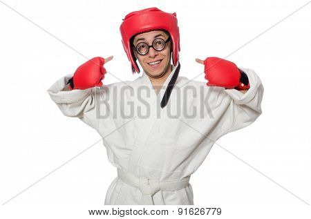Man boxer isolated on white