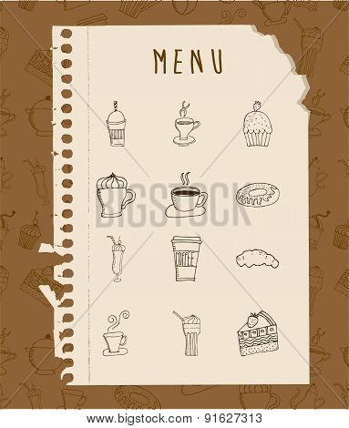 Foodstuff design over brown background vector illustration