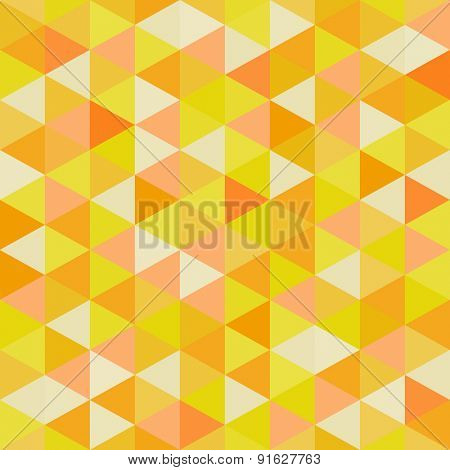 Seamless geometric triangles background. Mosaic. Abstract vector illustration. 