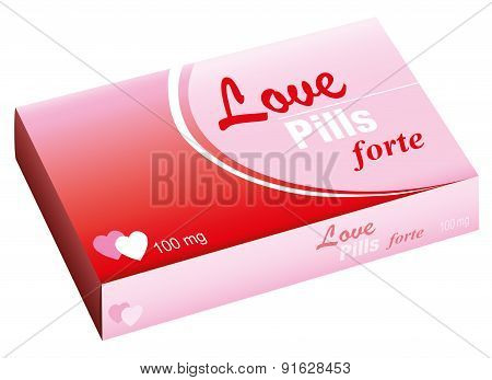 Love Pills Package Hearts