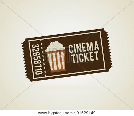 Cinema design over beige background vector illustration
