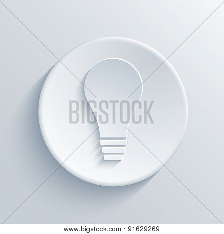 Vector modern light bulb icon background