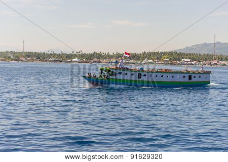 Ferry Boat To The Togean Islands, Indonesia