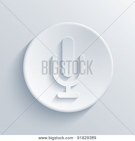 Vector modern microphone icon