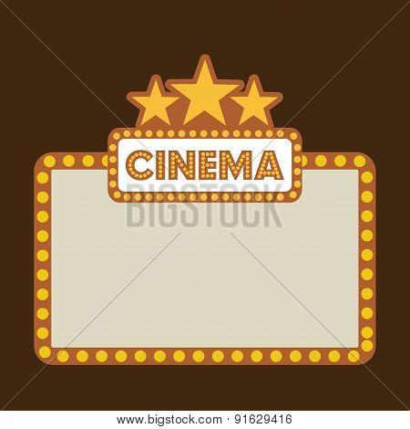 Cinema design over brown background vector illustration